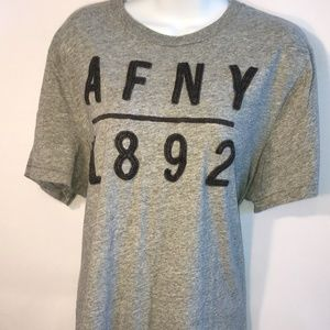 Abercrombie & Fitch Grey Muscle Logo Tee